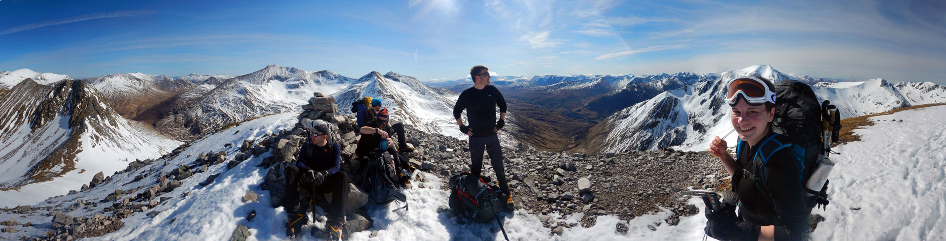 Panorama from Stob Coire a' Chairn