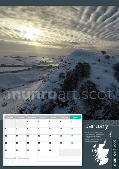 Scotland 2020 calendar by Bruce Macaulay of MunroArt